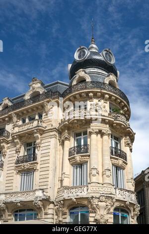 Place de la Comedie, Art Deco building , Montpellier, France, - Stock Photo