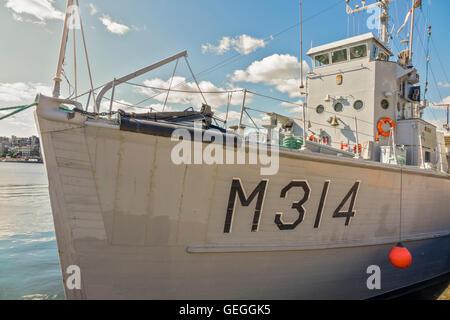 Norwegian Minesweeper M314 Oslo Harbour Norway - Stock Photo