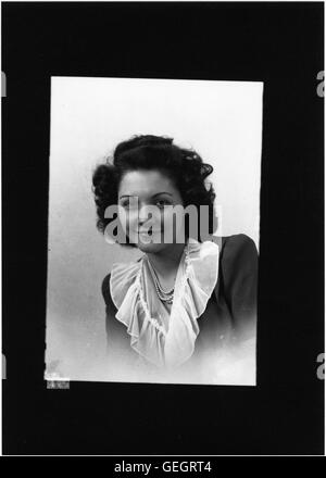 Portrait photograph of unidentified woman - Stock Photo
