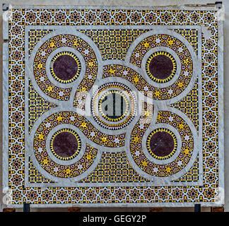 Italy Sicily Ceaflù cathedral interior Mosaico - Stock Photo