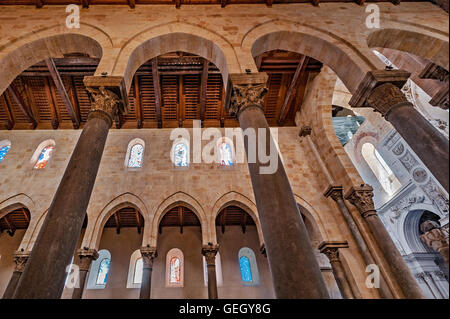 Italy Sicily Ceaflù cathedral interior - Stock Photo