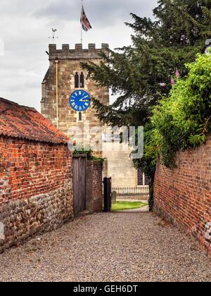 St Andrews Church at Aldborough near Boroughbridge North Yorkshire England - Stock Photo