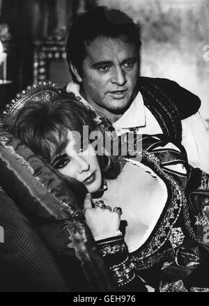 Elizabeth Taylor, Richard Burton *** Local Caption *** 1967, Doctor Faustus, Doktor Faustus - Stock Photo