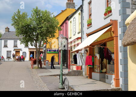 View of Bunratty Castle Folk Park in County Clare, Republic of Ireland - Stock Photo