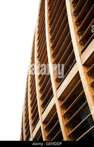 MILAN, ITALY - MAY 31, 2016: Detail of Unicredit Pavilion in Milan, Italy. Its a building iin Porta Nuova designed - Stock Photo