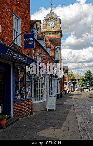 clocktower of Townhall in  Hungerford Berkshire - Stock Photo