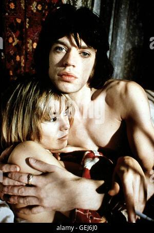 Anita Pallenberg, Mick Jagger Pherben (Anita Pallenberg), Turner (Mick Jagger)  *** Local Caption *** 1970, Performance, - Stock Photo