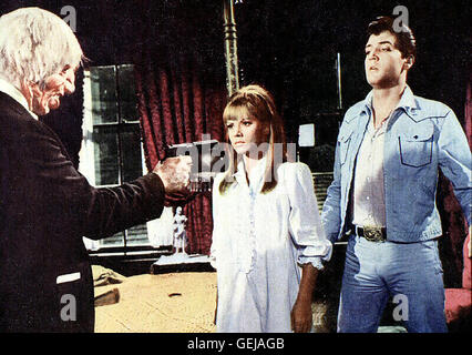 John Dennis, Jocelyn Lane, Elvis Presley Der singende Rodeo-Reiter Lonnie Beale (Elvis Presley,r) landet auf einer - Stock Photo