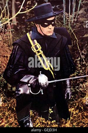 Pierre Brice  Im 15 Jahrhundert, als König Navarre stirbt, kämpfen seine zwei Nichten um den Thron. Zorro (Pierre - Stock Photo