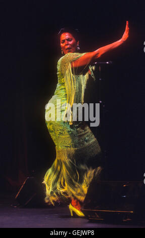 Aurora Vargas.Flamenco singer and dancer. Lope de Vega theatre. Sevilla, Andalusia, Spain - Stock Photo