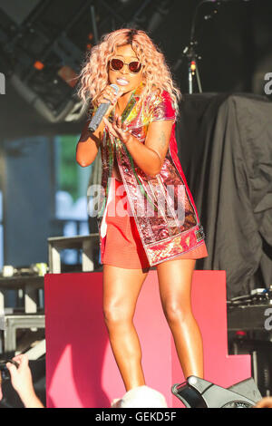Raleigh, North Carolina, USA. 24th July, 2016. Music artist EVE brings her 2016 Summer Tour to the Coastal Credit - Stock Photo