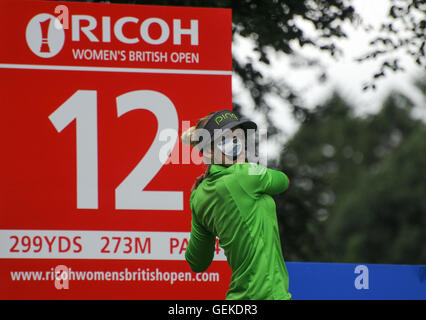 Buckinghamshire, UK. 27th July, 2016. Players practise during the RICOH WOMEN'S BRITISH OPEN 2016 Practise day at - Stock Photo