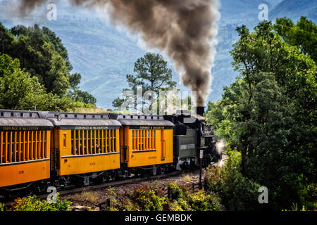 Durango Silverton Narrow Gauge Railroad - Stock Photo