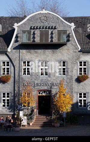 geography / travel, Germany, Lower Saxony, Harz Mountains, Goslar, marketplace, Kaiserring House, gable, carillon, - Stock Photo