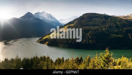 geography / travel, Austria, Salzburg, Durlasboden, Speichersee (impounded reservoir), Plattenkogel, Wildgerlostal, - Stock Photo