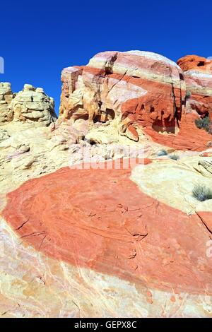 geography / travel, USA, Nevada, Nike Rock, Valley of Fire, - Stock Photo