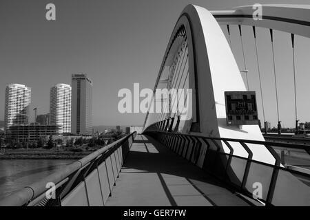 Apollo bridge, Bratislava in a summer suny day - Stock Photo