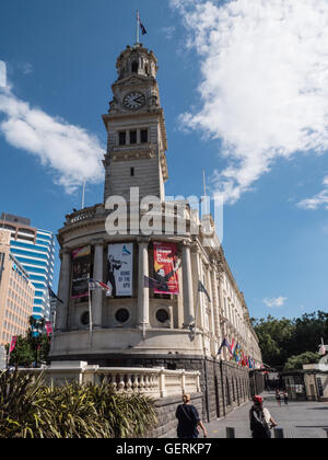 Auckland Town Hall, Auckland, North Island, New Zealand. - Stock Photo