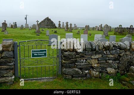 Baile nan Cailleach Graveyard - Benbecula - Stock Photo
