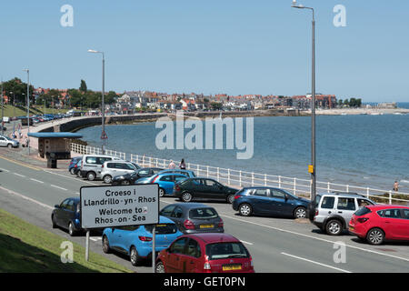 View towards Rhos on Sea, Colwyn Bay North Wales - Stock Photo