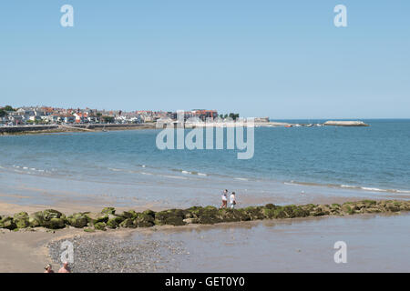 View towards Rhos on Sea North Wales - Stock Photo