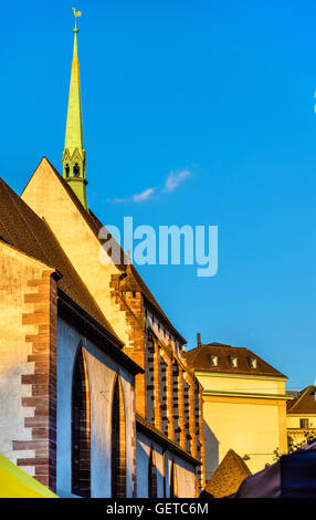 Barfusserkirche church and Historical Museum in Basel - Stock Photo