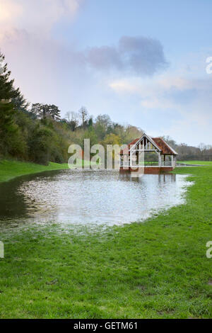 The Bandstand or Outdoor Pursuits building in Ross On Wye in Herefordshire. - Stock Photo