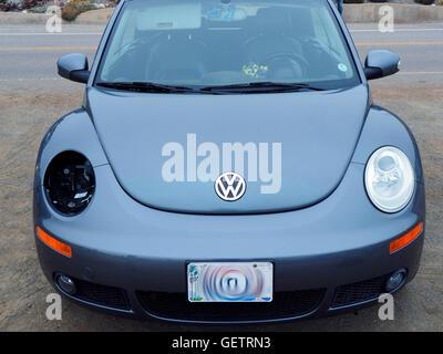 VW Bug Beetle Missing one Headlight - Stock Photo