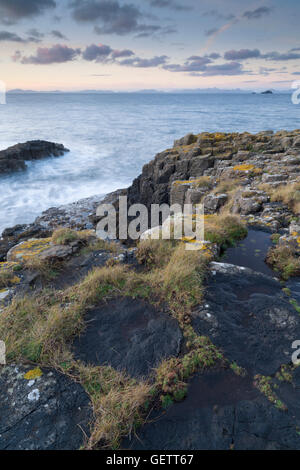 View from the coastline near Bornesketaig on the isle of Skye. - Stock Photo