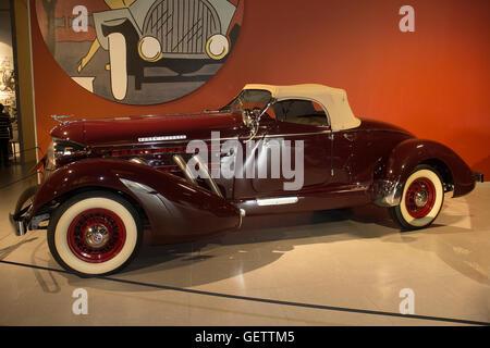 1936 Auburn 852 Speedster at the Louwman Museum, The Hague, Netherlands - Stock Photo