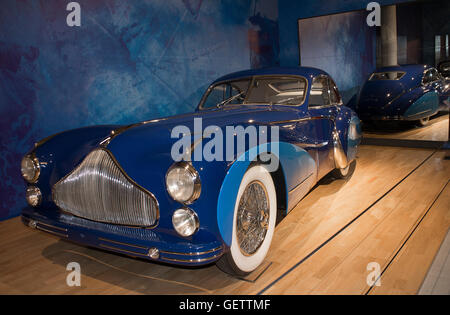 1948 Talbot Lago T26 Grand Sport coupe at the Louwman Museum, The Hague, Netherlands - Stock Photo