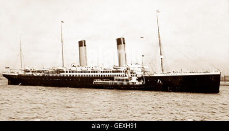 RMS Oceanic - White Star Line - early 1900s - Stock Photo