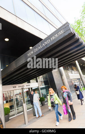 New Zealand House entrance on Haymarket in London. - Stock Photo