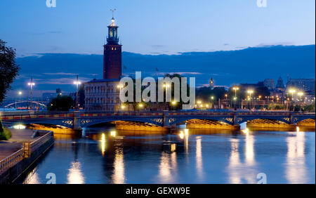 The stadshuset ( town hall) in Stockholm - Stock Photo
