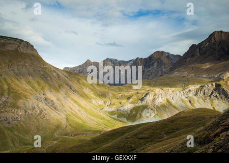 Autumn afternoon in Spanish Pyrenees. - Stock Photo