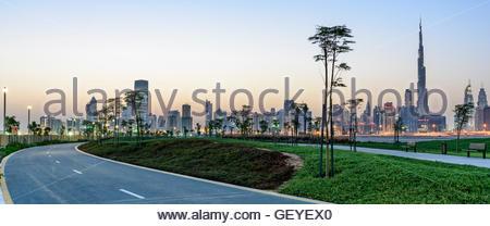 The New Cycle Track and Resting area, Dubai Nad Al Sheba, United Arab Emirates - Stock Photo