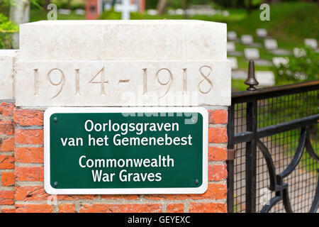 Vredenhof, Commonwealth War Graves, victims from WWI & WWII, on the Frisian island of Schiermonnikoog, Friesland, - Stock Photo