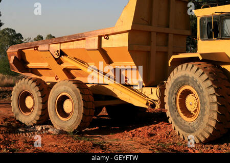 Earth Moving Machinery, Gauteng, South Africa - Stock Photo