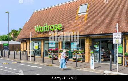 Waitrose food supermarket store front in Rustington, West Sussex, England, UK. - Stock Photo