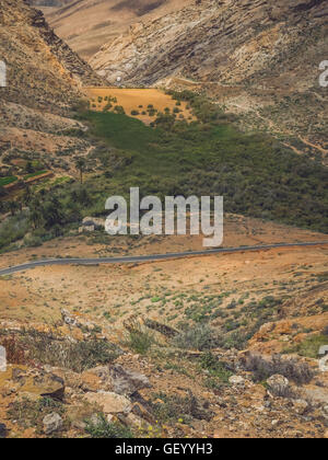 Penitas dam in the Pajara municipality in Fuerteventura, Canary Islands, Spain - Stock Photo