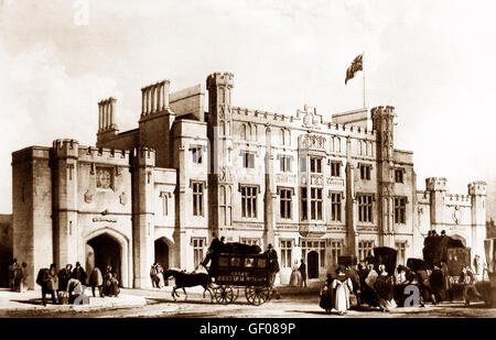 Temple Meads Railway Station, Bristol - Victorian period - Stock Photo