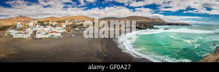 Ajuy - popular fishing village on theFuerteventura west coast, Parque Rural de Betancuria in Fuerteventura, Canary - Stock Photo
