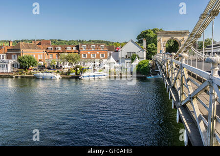 Marlow on the River Thames to the west of London - Stock Photo