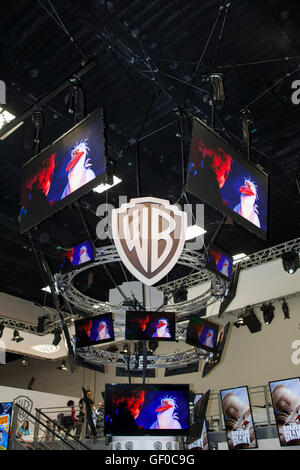 The WB Television booth at San Diego Comic Con July 2016.