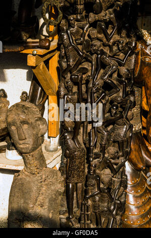 Tanzania Dar Es Salaam Mwenge Market Makonde Carver At