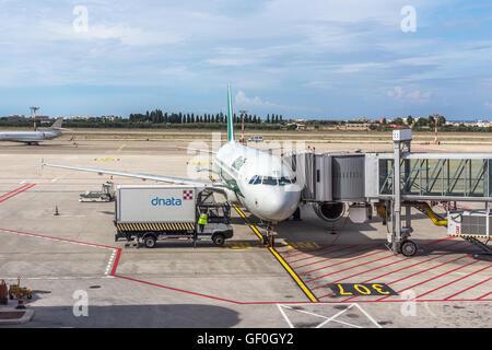 Italy, Bari, International airport, flight control tower ...