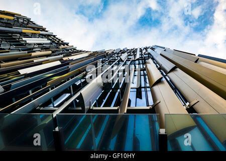 ASB North Wharf facade, Auckland, New Zealand - Stock Photo