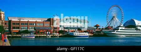 Navy Pier, Chicago, USA - Stock Photo