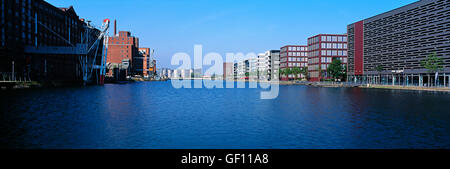 Inner Harbour, Duisburg, Germany - Stock Photo