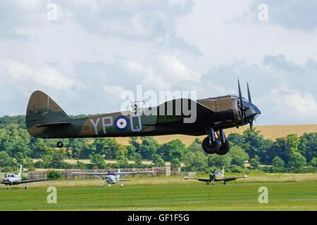 Bristol Blenheim Mk1 at RAF Duxford,Flying Legends - Stock Photo